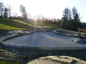 New Par 3 course at the Evian Resort Golf Academy - Behind Hole 2 Green