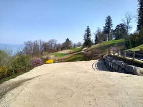New Par 3 course at the Evian Resort Golf Academy - View from Hole 4 Tee