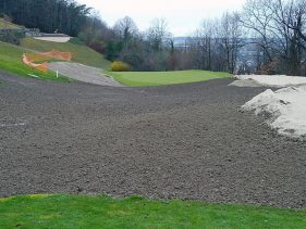 New Par 3 course at the Evian Resort Golf Academy - 5 Tee looking back up Hole 4