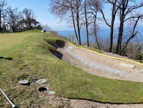 New Par 3 course at the Evian Resort Golf Academy - Hole 5 Greenside Bunker